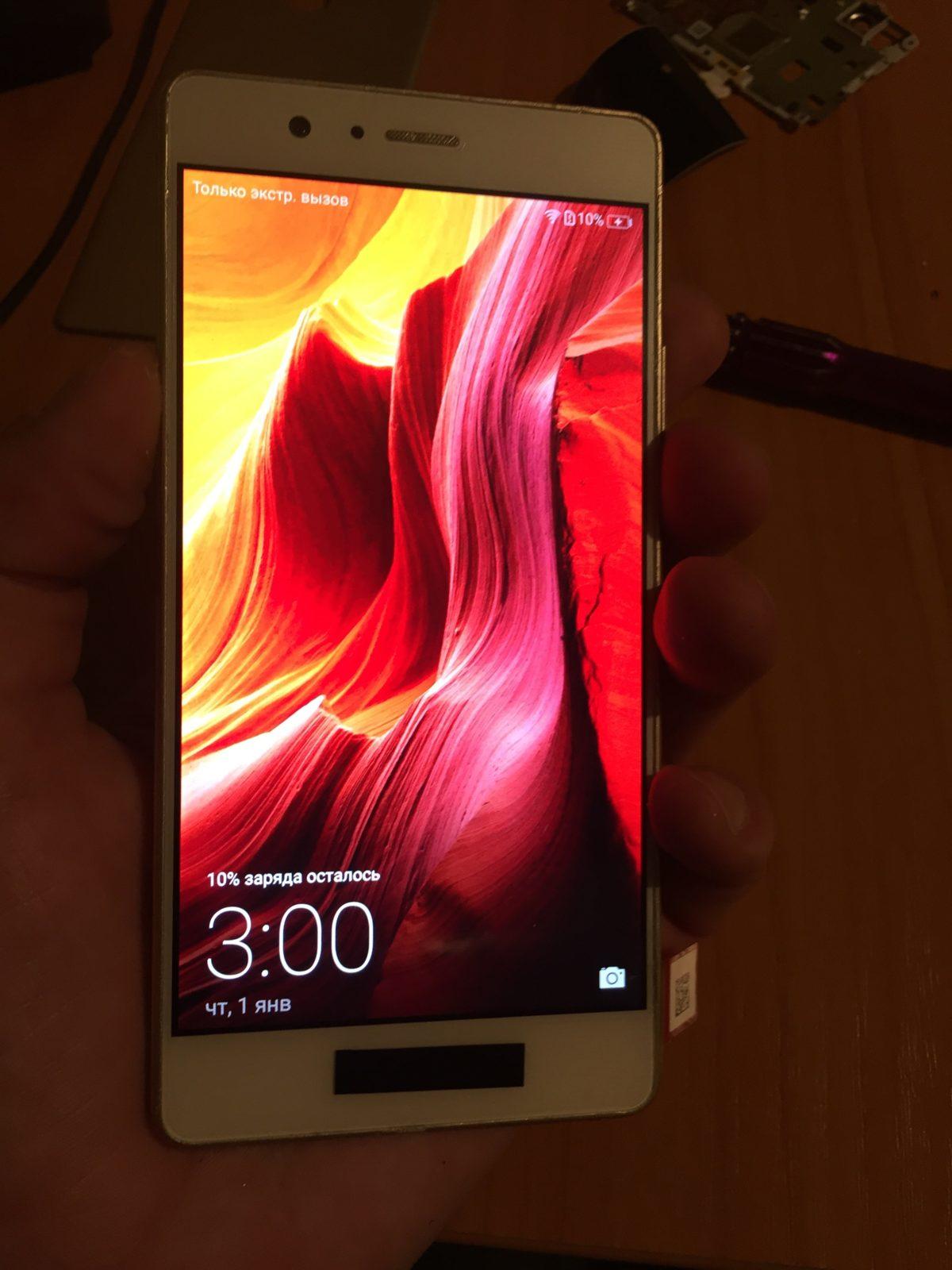 Huawei p9 lite разбор и замена дисплея с разбитым стеклом