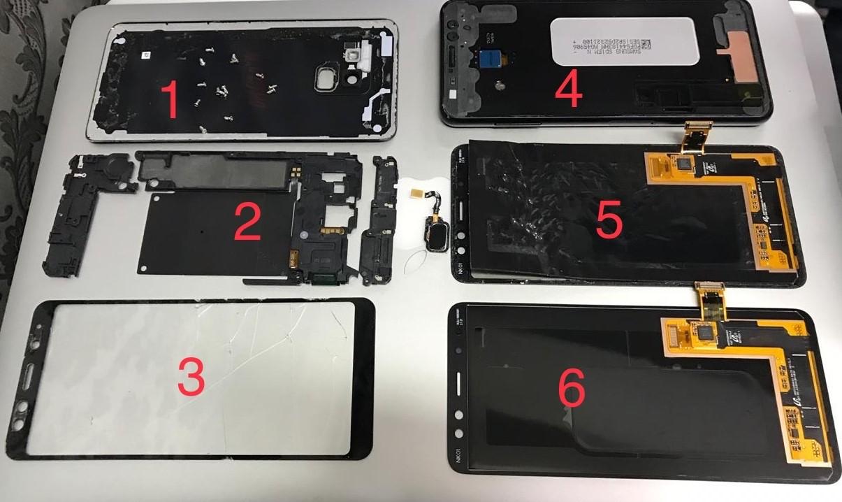 Поменять стекло или дисплей на Samsung Galaxy A8 2018
