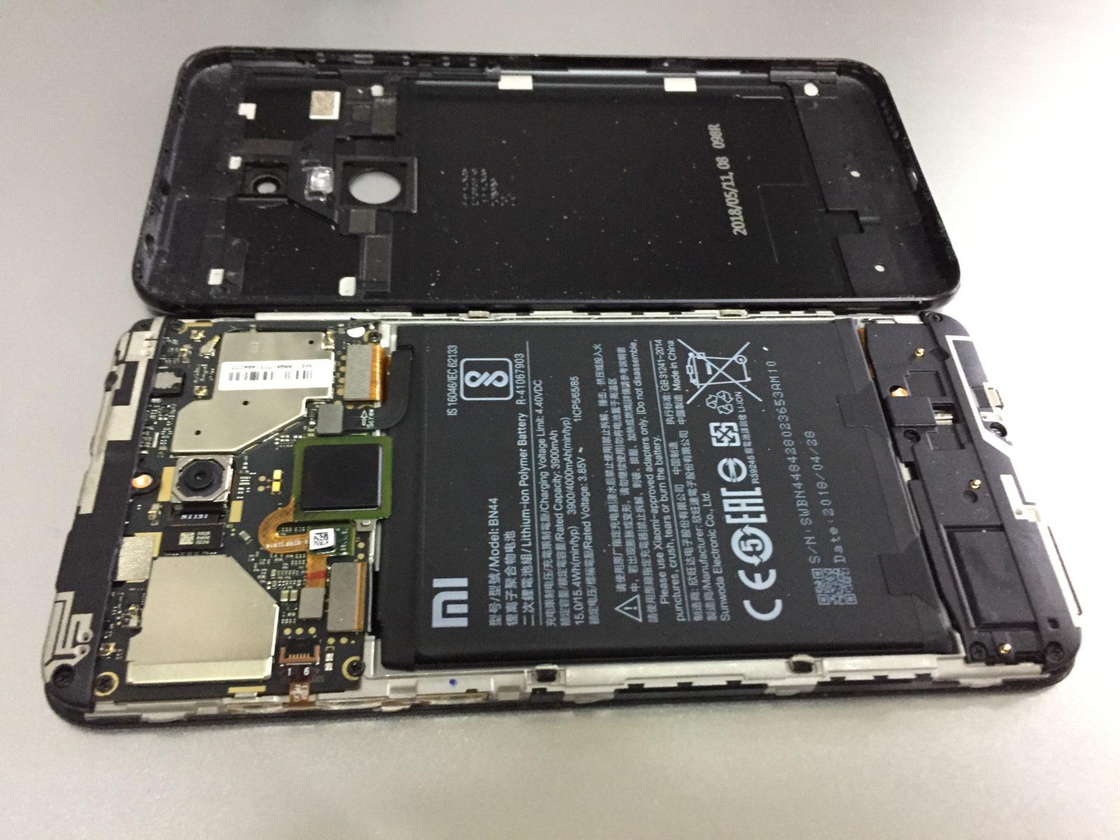 На Redmi 5 plus разбилось стекло - замена дисплея ORIGINAL