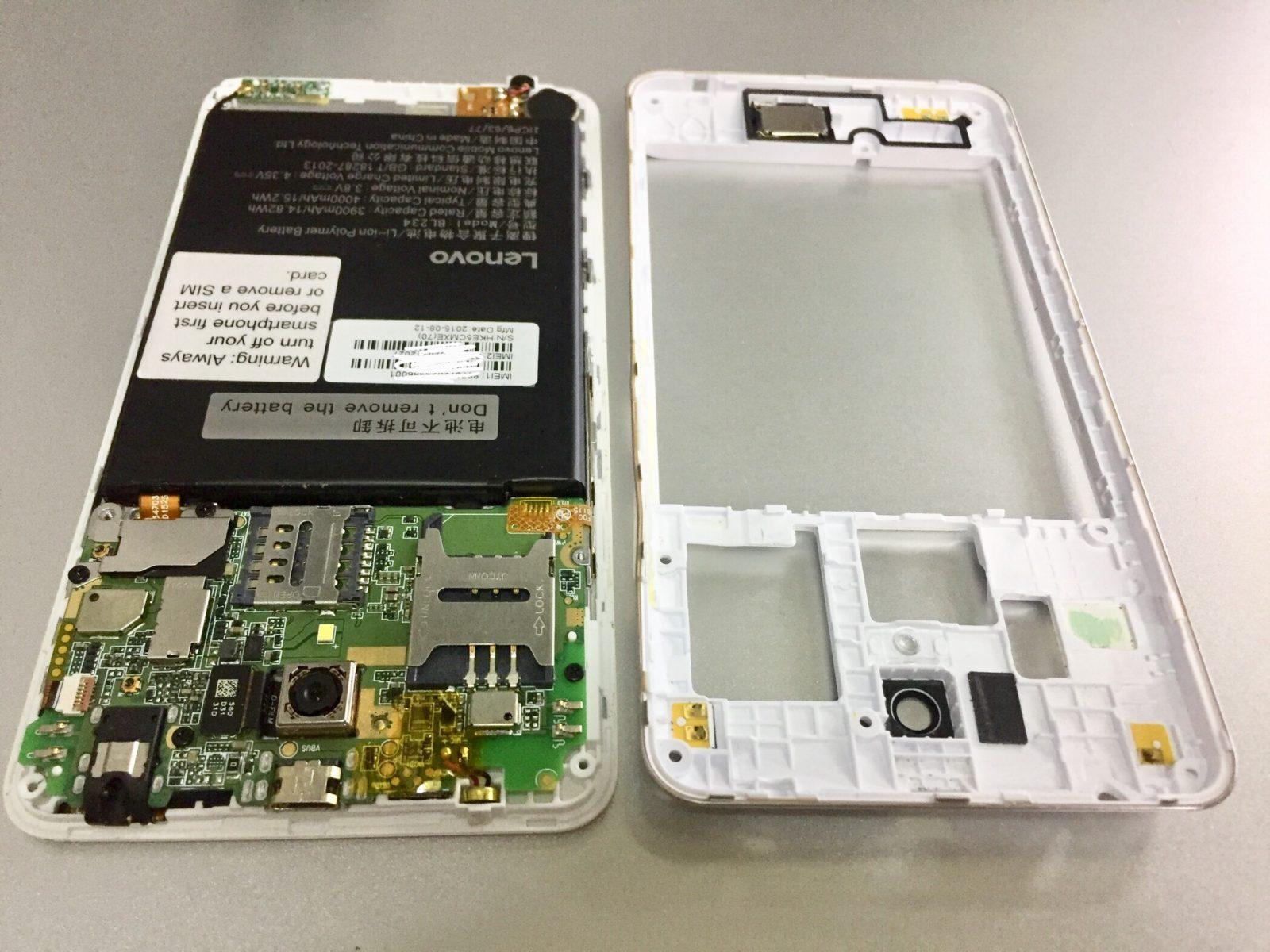 Lenovo A5000 не заряжается. Ремонт в картинках