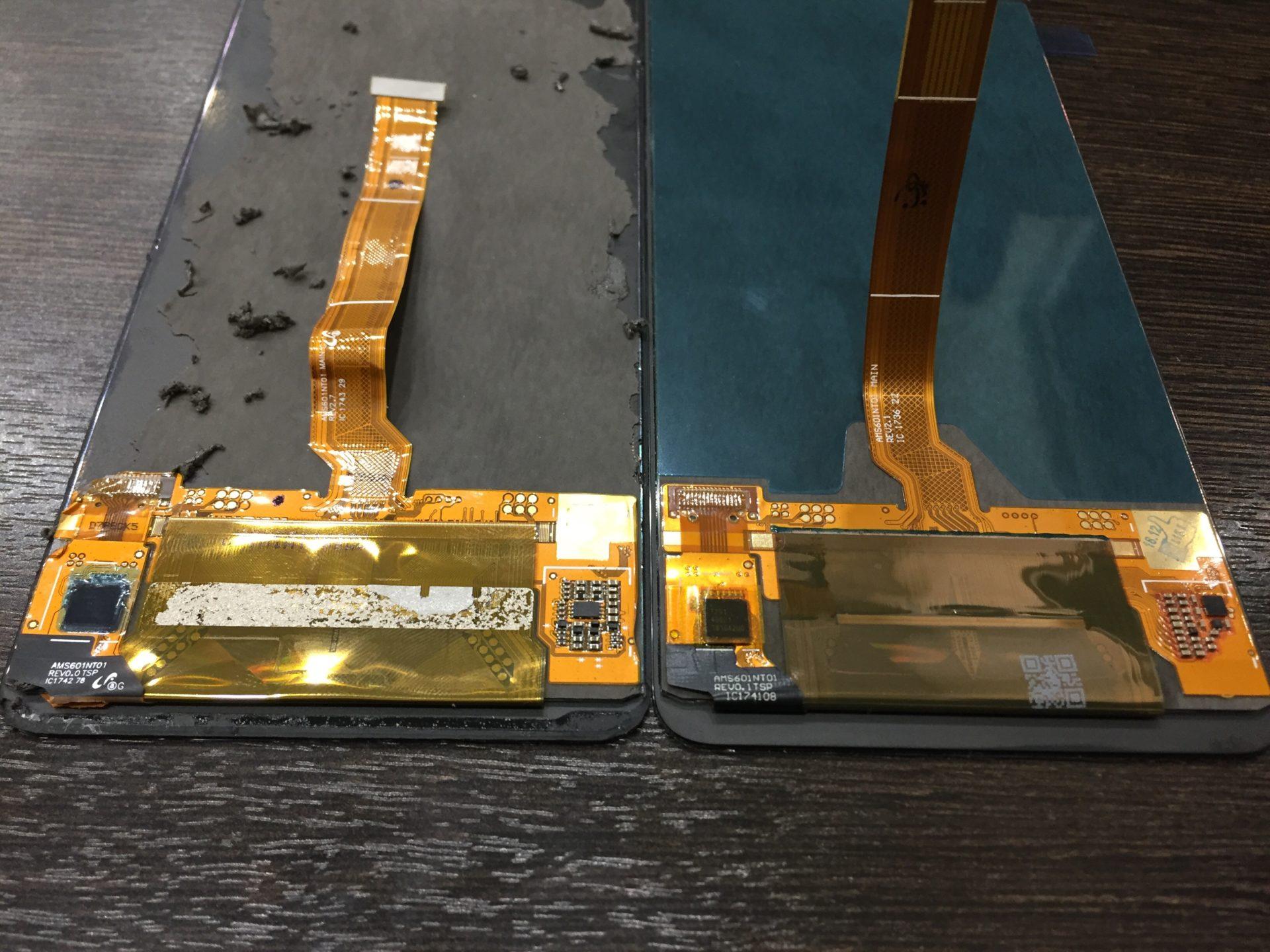 На Huawei Mate 10 Pro разбилось стекло - замена дисплея.